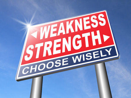 weakness: strength or weakness being strong or weak overcome problems