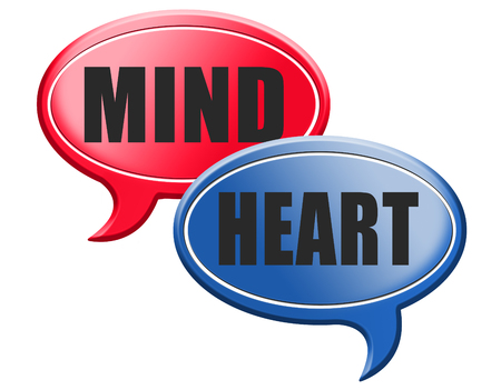 intuition: heart over mind follow your instinct and gut feeling or intuition insight