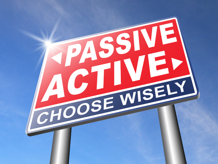 active arrow: active passive take action or wait taking initiative and participate