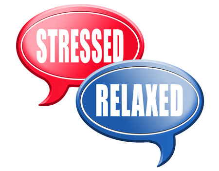 distressing: relaxed stressed therapy to take it easy relax and be stress free assessment and management sign