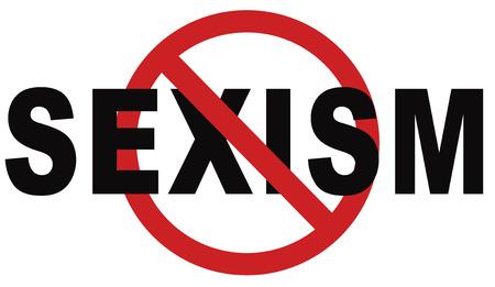 stop sexism no gender discrimination and prejudice or stereotyping