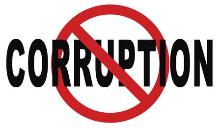 corrupcion: detener el fraude la corrupción y el soborno político o la policía puede estar dañado