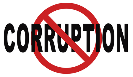 stop corruption fraud and bribery political or police can be corrupt