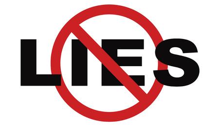 Niente più bugie smettere di mentire dicono la verità ed essere onesti non fuorvianti o inganno