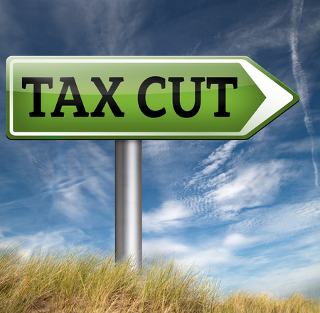 reduce: tax cut lower or reduce taxes paying less