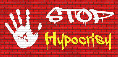 stop hypocrisy having two faces pretending and faking hypocrite