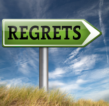 sorry: regret or no regrets saying sorry and offer apologize being ashamed for bad decisions