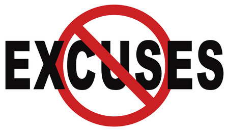 no excuses tell the truth, take responsibility and have no regrets. stop lying Being responsible and taking responsibilities is better than telling lies. Say sorry is not enough! No excuse! Banque d'images