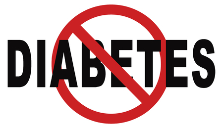 stop diabetes eat less sugar go on a diet and eat healthy prevention Standard-Bild