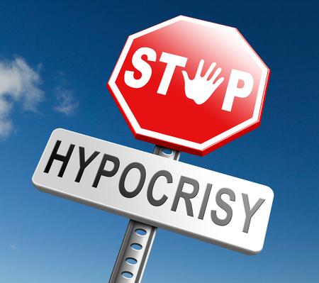 hipocresía: detener la hipocres�a que tiene dos caras fingir y simular hip�crita Foto de archivo