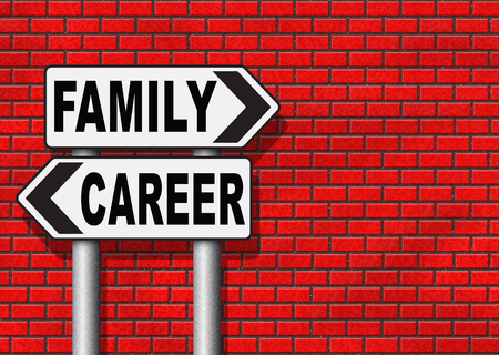 stress free: family career balance in work business and health live your life stress free with relaxation and leisure time change job direction move away from workaholic road sign arrow