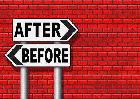 avant apr�s: before after comparison make a change for the better