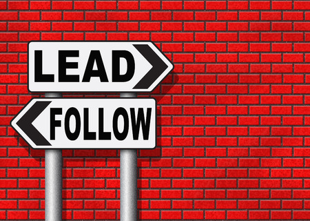 copycat: follow or lead following or catch up the natural leader,leaders or followers in business chief in command or leadership leading to victory Stock Photo