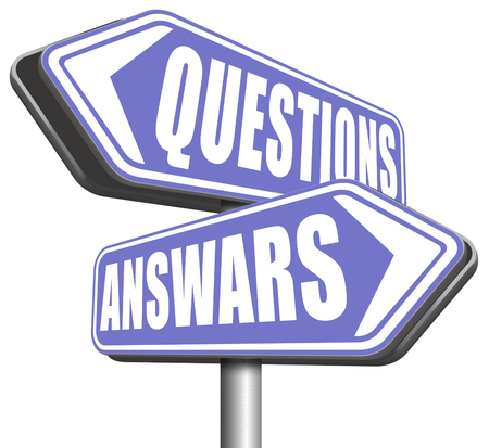 support desk: questions answers ask the right question and get an answer help or support desk solve problems and find solutions road sign