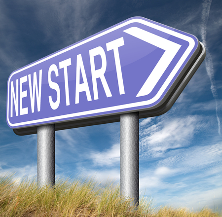 again: new start fresh begin or chance back to the beginning and play the game again Stock Photo
