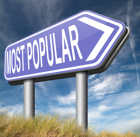 most: most popular road sign arrw Stock Photo