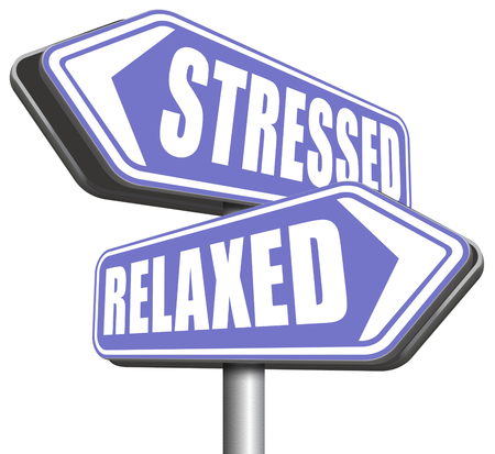 relaxed: relaxed stressed therapy to take it easy relax and be stress free assessment and management sign