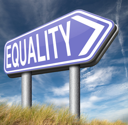 equal rights: equality for all and solidarity equal rights and opportunities no discrimination Stock Photo