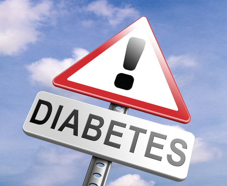 type 1 diabetes: diabetes find causes and sceen for symptoms of type 1 or 2 prevention by dieting or treath with medication or low fat and sugar free diet Stock Photo