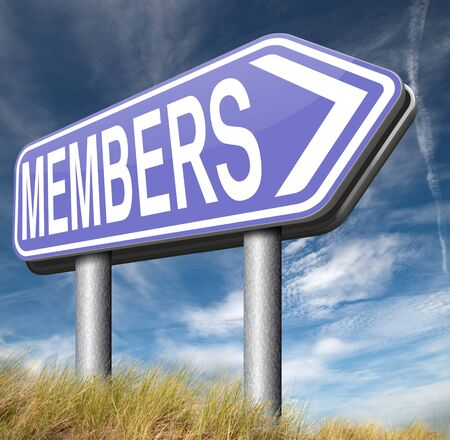 required: membership required restricted area access for members and VIP persons only Stock Photo