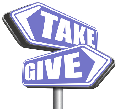 give take to charity and make a contribution or donation altruism and generous giving and donate cheap grudging volunteering