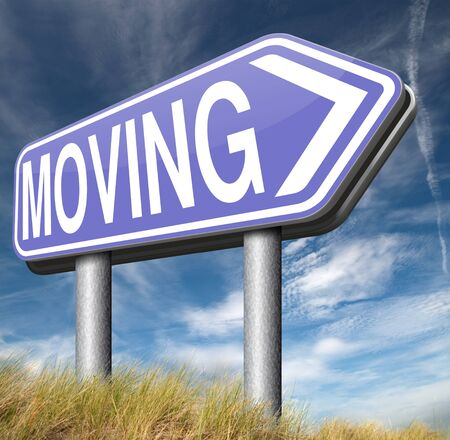 relocation: Moving or relocation relocate to other house or location Stock Photo