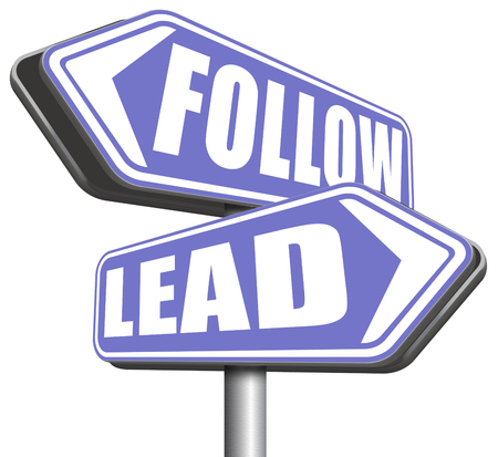 copycat: leadership follow or lead following or catch up the natural leader,leaders or followers in business chief in command