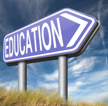 raod: education learn and study at university college or high school learn to know Stock Photo