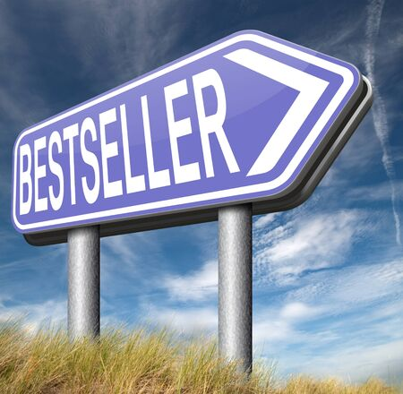 bestseller: bestseller best seller top product or book, most wanted item highest quality nd best value Stock Photo