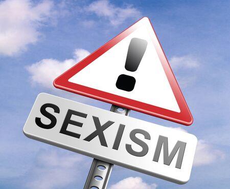 stop sexism no gender discrimination and prejudice or stereotyping for women or men