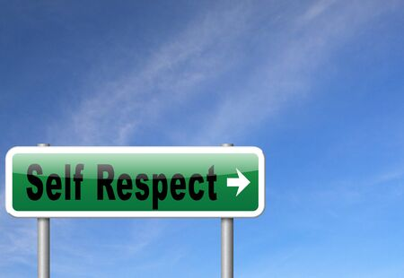 Self respect or dignity self esteem or respect confidence and pride Reklamní fotografie