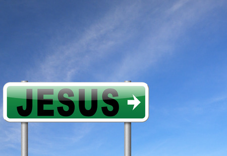 leading the way: Jesus leading way to the lord faith in savior worship christ spirit search belief in prayer christian Christianity, road sign billboard.