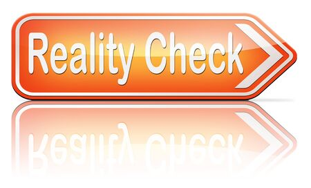 life events: reality check up for real life events and realistic goals Stock Photo