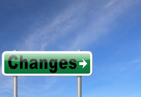 change direction: changes ahead, going a different direction change and improvement making things better for the future. A positive evolution to improve the world and progress.
