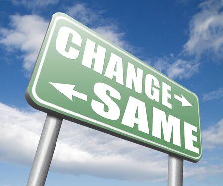 bad habits: cambiar misma repetir el viejo o innovar e ir para el progreso en su carrera de vida o una nueva ruptura relación con los malos hábitos señal de tráfico Foto de archivo