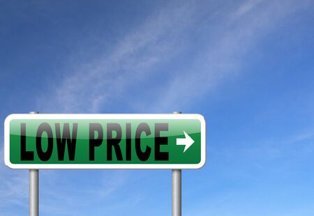 bargain: low price best bargain lowest prices and product promo Stock Photo