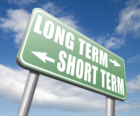 long term short term strategy planning or thinking plan and think ahead for the near and far future 免版税图像 - 51137789