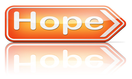 think positive: hope bright future hopeful for the best optimism optimistic faith and confidence belief in future think positive Stock Photo
