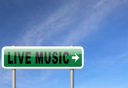 live stream radio: music live stream radio music or listen live on air broadcasting songs program road sign