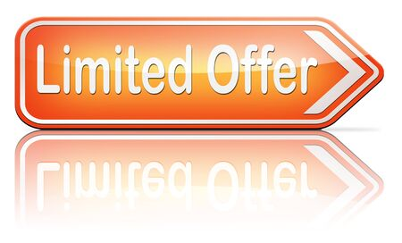 edition: limited offer edition or stock webshop  or web shop sign Stock Photo