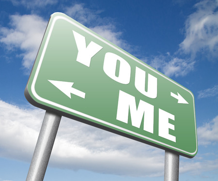 about you: you versus me your or my opinion mariage crisis or differences leading to divorce and separation having different or separate interests and opinions