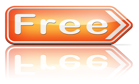 free sample: Free product trial sample offer or gratis download webshop web shop icon Stock Photo