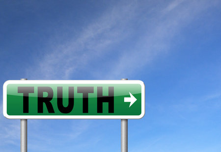 honest: Truth be honest honesty leads a long way find justice law and order, road sign billboard. Stock Photo