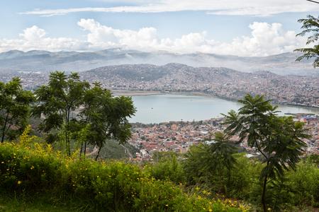 cochabamba: view over the Cochabamba city, Bolivia