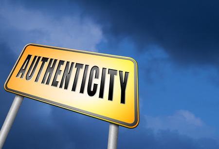 authenticity: authenticity road sign