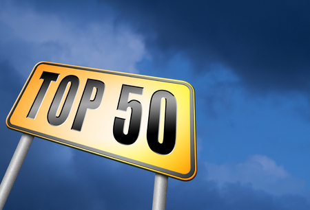 top 50 icon: top 50 road sign