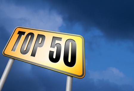 top 50 road sign