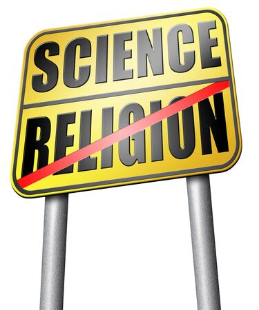 darwinism: science religion road sign