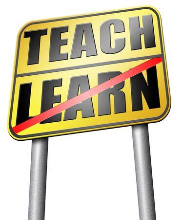 highschool: learn and teach road sign