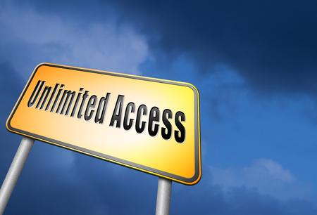 no pase: Muestra de camino de acceso ilimitado